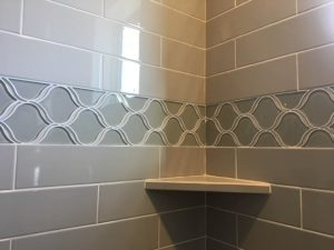 Wall of Tiles with design | Barrett Floors
