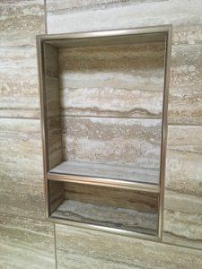 Wall shelf in room | Barrett Floors